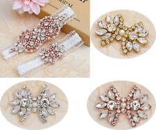 Strass Mariposa Apliques Cristal Nupcial Diadema de perlas de Parche Hazlo tú mismo Clips De Zapato