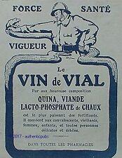 PUBLICITE VIN DE VIAL QUINA VIANDE SOLDAT POILU SERPENT SIGNE DYL DE 1918 AD PUB