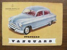 Standard Vanguard Ad Brochure 1950s