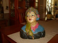 Vintage Esther Hunt Era Paris Art Studio Chalkware Bust