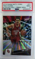 2019 Panini The National Rainbow Spokes Trae Young #TY, #'d/50, PSA 9, Low Pop 1