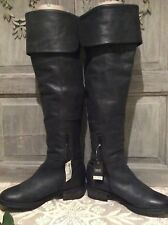 NEXT Beautiful Soft Black Leather Boots~Over Knee High/Block Heel~BNWT RRP £125
