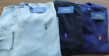 NWT Polo Ralph Lauren Navy BLUE, GREY/GRAY Pima Cotton LS Sweater Big&Tall
