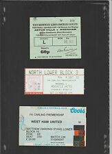 Match ticket stub for ARSENAL vs NEWCASTLE UNITED 1996