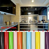 60*100CM PVC Smooth Wall Paper Shiny Furniture Refurbished Stickers Removable