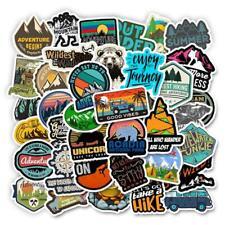 50 Pcs Camping Travel Stickers Wilderness Adventure Landscape Waterproof Sticker