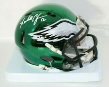 Randall Cunningham signed Eagles Chrome Mini Helmet JSA Witnessed