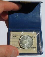 1974 Centenario nascita Marconi 500 lire Argento Silver confezione originale