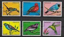 E7968 Paraguay 1973 birds set  6 values, big size