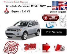 Mitsubishi Outlander XL 2007 year  Workshop & Repair  Manual PDF