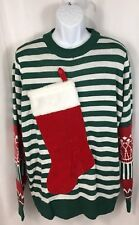 Tipsy Elves Empty Stocking Stuffer Ugly Christmas Sweater Men's XXL 2XL