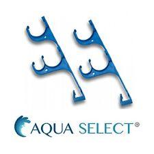 Aqua Select Poolside Plastic Pole & Hose Triple Hook Set For Swimming Pools