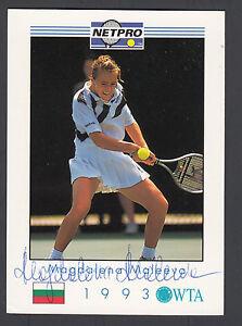 Magdalena Maleeva Autographed 1993 NETPRO Tennis Trading Card JSA COA