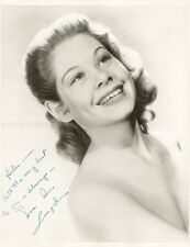 SUE ANE LANGDON - PHOTOGRAPH SIGNED