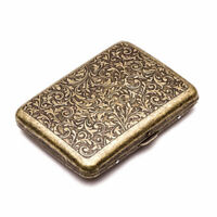 Load Vintage Men's Cigarette Case Bronze Metal Steel Holder with Gift Box