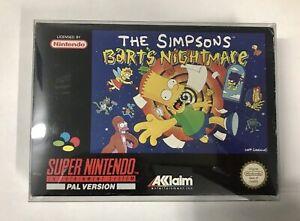 The Simpsons Barts Nightmare SNES Super Nintendo Boxed Complete RARE