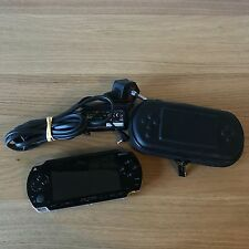 Sony PSP-1000 Console Black Handheld System  | Tested Inc Sony Charger & Case