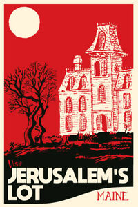 Visit Jerusalems Lot Maine Fantasy Travel Poster 12x18 Inch