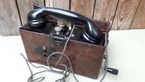 2 WK ! Feldtelefon FF33-Heliowatt 1942