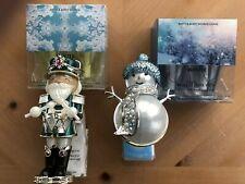Bath & Body Works Wallflower Plug-ins Snowman & Nutcracker New + 4 Bulbs Winter