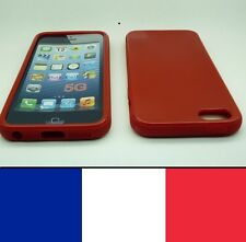 Housse silicone Rouge pour iphone 5, 5S,SE etui protection, coque silicon case