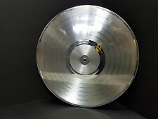 Platinum 12 inch LP plated vinyl record award quality laser-able, engrave-able
