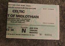 1988 scottish cup semi final match ticket.