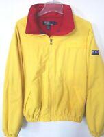Vintage 90s Polo Sport Ralph Lauren Hi Tech Fleece Zip Yellow Jacket Mens Sz M