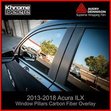 2013-2018 Acura ILX Window Pillar Carbon Fiber Overlay