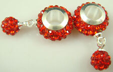 Gorgeous Czech Crystals Dangle Bead fit European Charm Bracelet Earrings aHm5