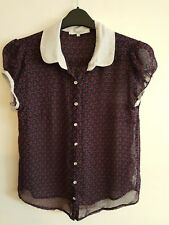 NEW LOOK - Ladies Womens Girls Lovely Blue & Red Patterned Top / Blouse Size 12