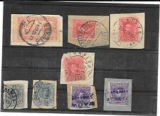 España.Conjunto de 8 sellos Alfonso XIII