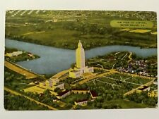 Louisiana State Capitol Baton Rouge Vintage Postcard Aerial Unposted