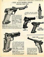 1969 Print Ad of Fitz Accu-Riser Pistol Grip Model 52 S&W A-RU RA Ruger ACG Colt