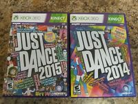 Just Dance 2014 Just Dance 2015 - Microsoft Xbox 360 Kinect - Lot of 2
