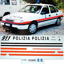 Opel Vectra Polizia Cantonal police Locarno-Ticino Swiss 1:43 Decal Abziehbild