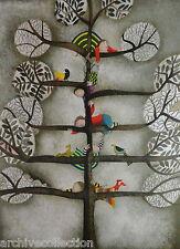 """G Rodo Boulanger """" De Branch En Branche """" Original Lithograph Artwork"""