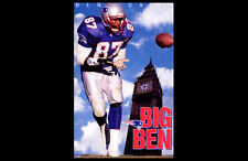 Ben Coates BIG BEN New England Patriots 1995 Vintage Original POSTER - MIP