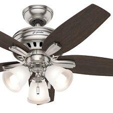Hunter Fan 42 in. Ceiling Fan with 3 Lights in Brushed Nickel