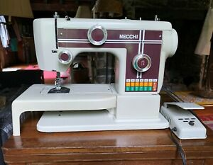 Necchi Mod. 523 sewing machine.1970s.Heavy duty, and embroidery. Made in Taiwan.