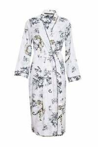 Cyberjammies Willow Tiger Print Lightweight Belted Dressing Gown Size 10 New