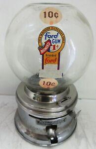 Ford 10c Round Gum Machine Circa 1950's #051697