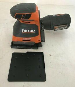 RIDGID R86064B Sheet Sander 18V 3Speed Lithium-Ion Dust Bag Lock-On Switch, GR