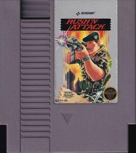 RUSH 'N ATTACK (1987) nes nintendo green beret rush'n 5-screw us NTSC USA IMPORT