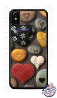 Colorful Stone Rocks Heart Design Phone Case Cover for iPhone Samsung LG etc