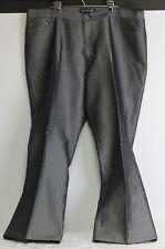 Venezia Grey-Silver Dress Jeans Womens Plus Size 24 Straight Leg Inseam 33