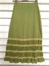 British India Travellers Skirt Maxi Gypsy Boho Size 8 Long Flowy Festival