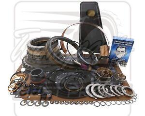 Fits Ford E4OD Transmission Deluxe Rebuild Kit 96-3/97 Level 2 +Transgo Fix 2WD