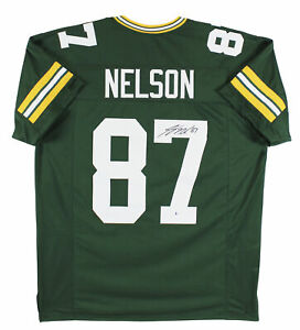 Jordy Nelson Authentic Signed Green Pro Style Jersey Autographed BAS Witnessed