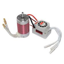 4 polig 3665 2600KV Brushless Motor + 60A ESC Set für 1/10 1/8 RC Auto Boot
